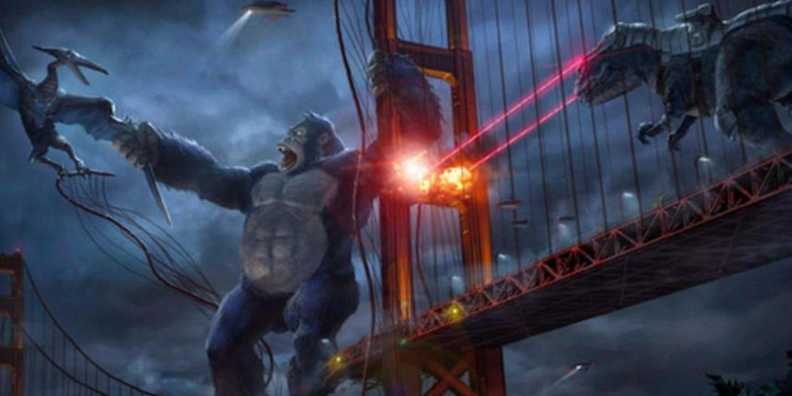 """Ambientada en 2050, es una versión animada y moderna de la clásica historia de """"King Kong"""" con un trato humano que lo convierte en superhéroe. Foto:Netflix"""
