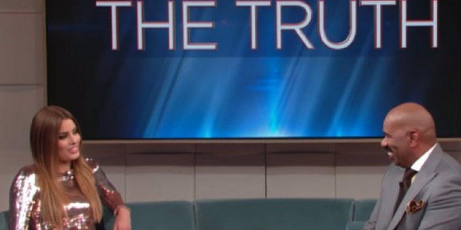 Foto:Captura web entrevista de Steve Harvey a Ariadna Gutiérrez – YouTube