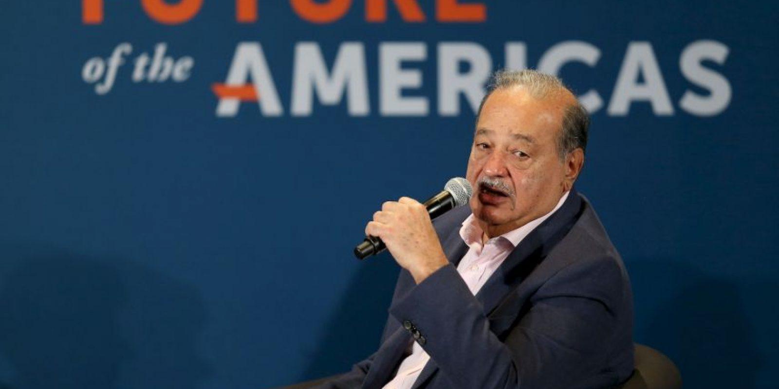 2. Carlos Slim tiene una fortuna avaluada en $77 mil 100 millones. Foto:Getty Images