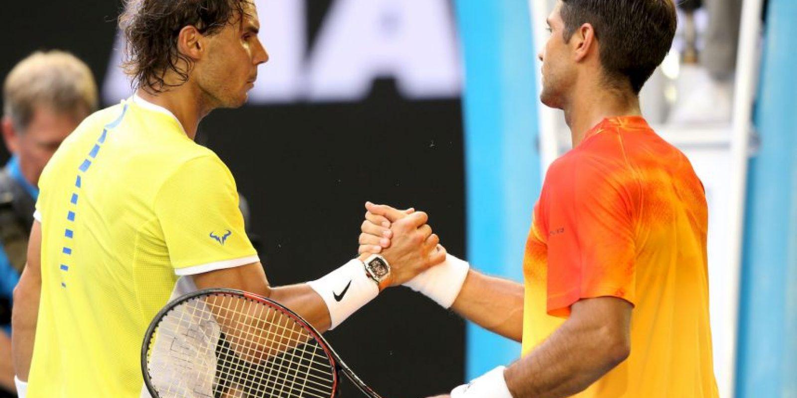 Fue derrotado en cinco sets por su compatriota Fernando Verdasco Foto:Getty Images