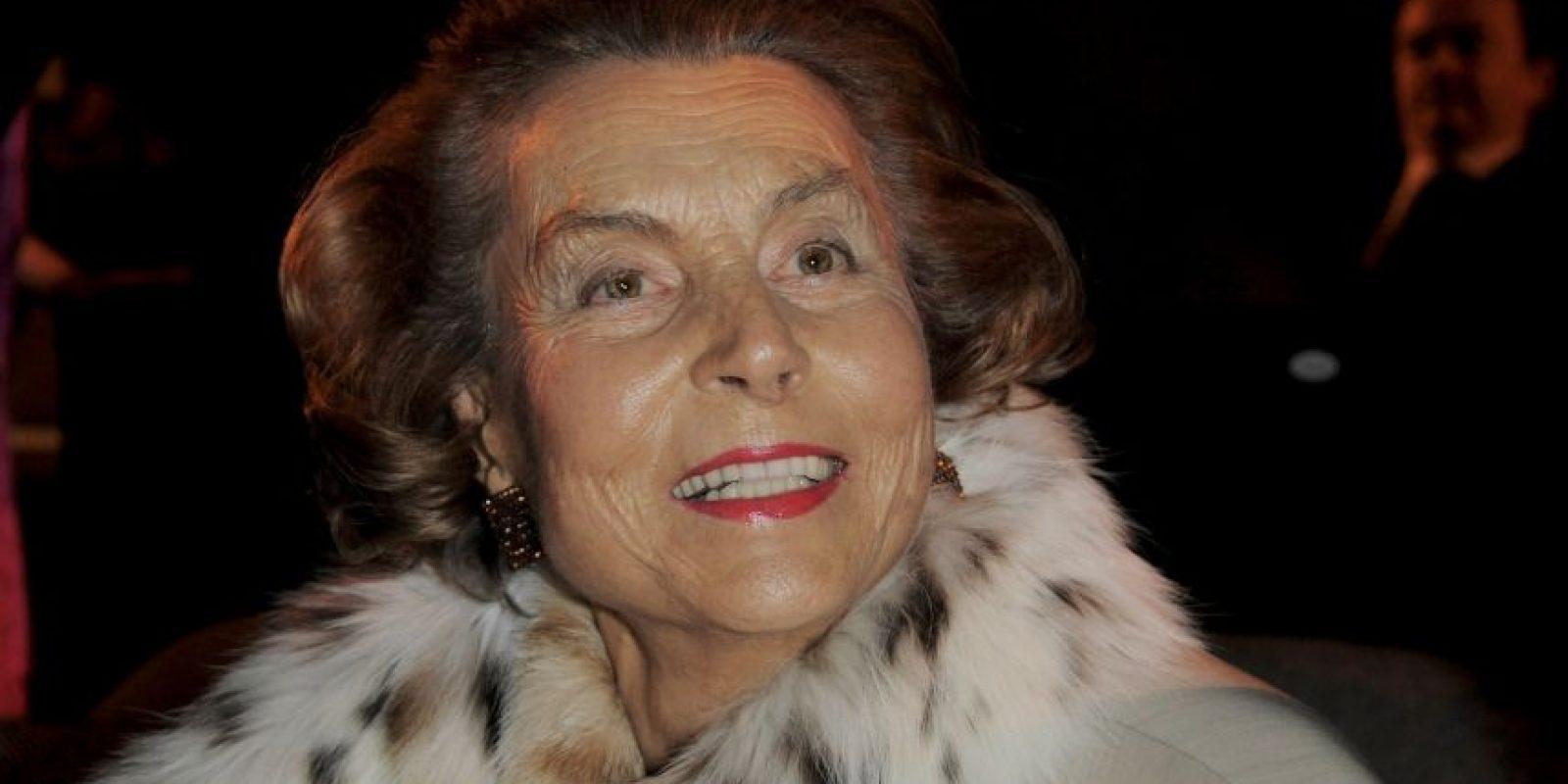 9. Liliane Bettencourt posee $40 mil 100 millones de dólares. Foto:Getty Images