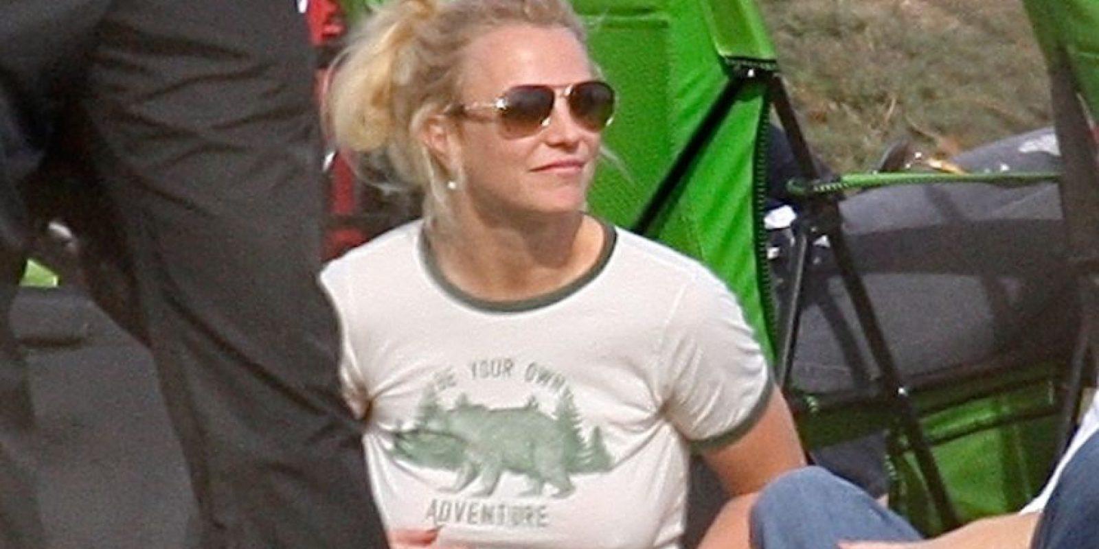 """La cantante de """"Pretty Girls"""" estaba tan relajada, que hasta asistió al partido sin sostén. Foto:Grosby Group"""