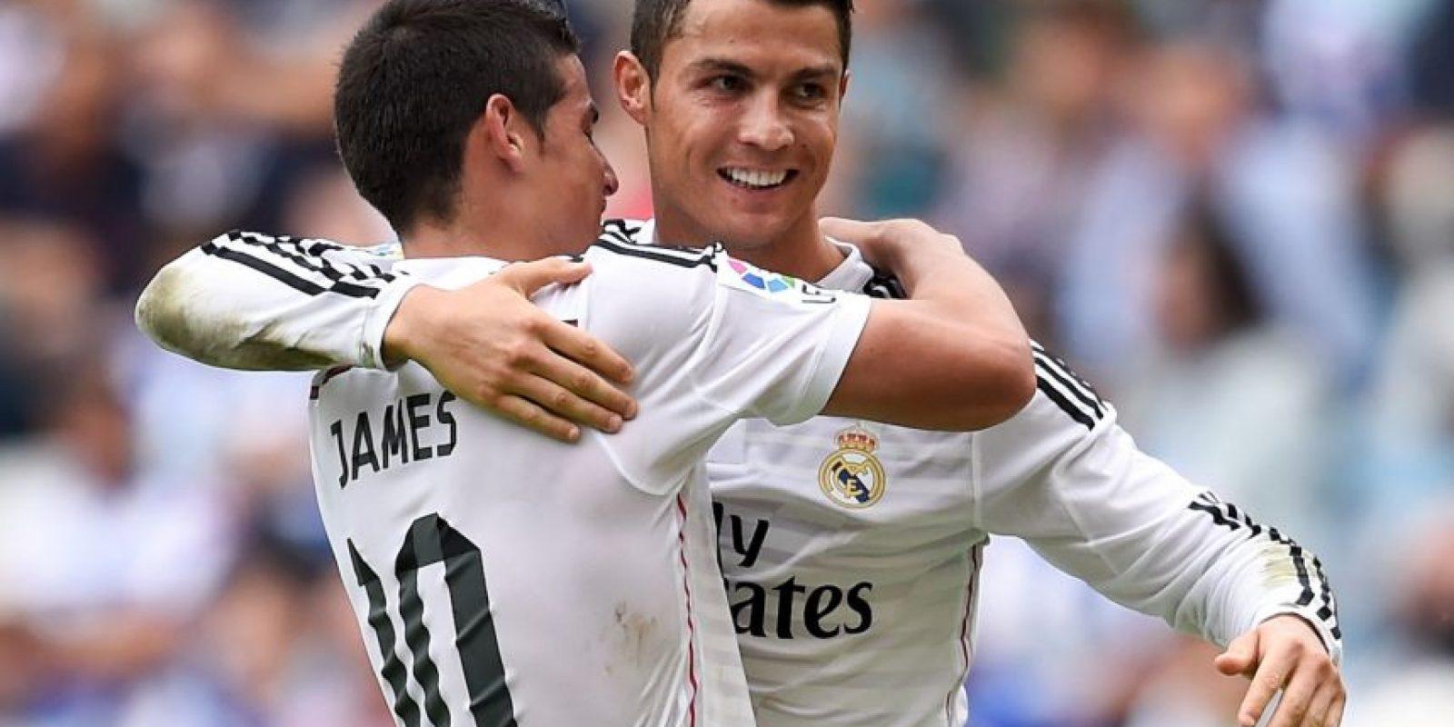 Desde su llegada al Real Madrid, James Rodríguez hizo una buena amistad con Cristiano Ronaldo Foto:Getty Images