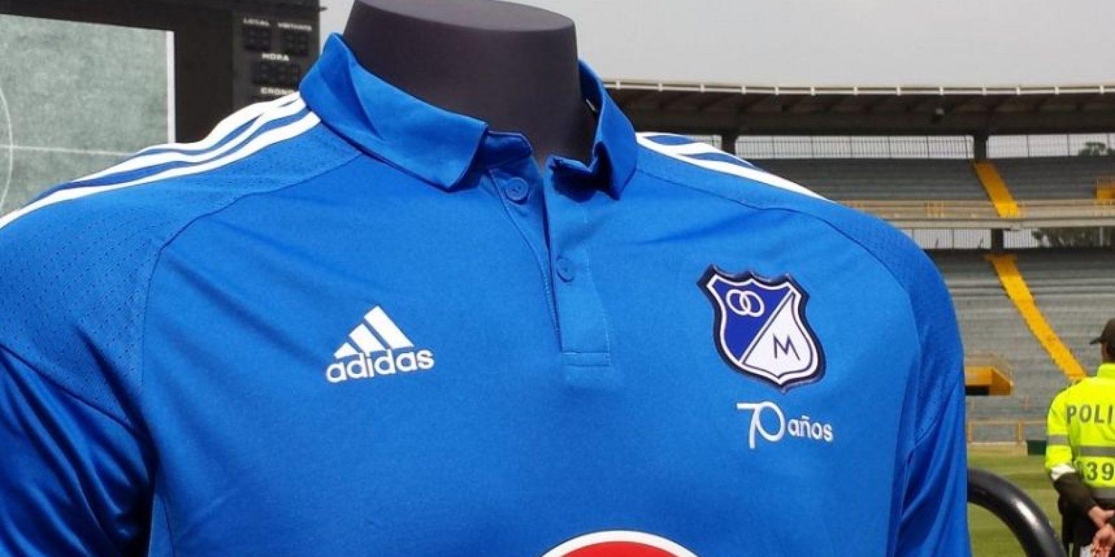Nueva camiseta de Millonarios Foto:@PubliSport