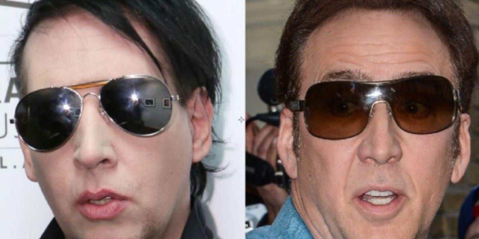 Marilyn Manson y Nicolas Cage Foto:Getty Images
