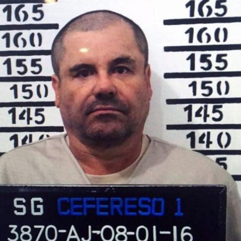 """Joaquín """"El Chapo"""" Guzmán fue recapturado el 8 de enero. Foto:AFP"""