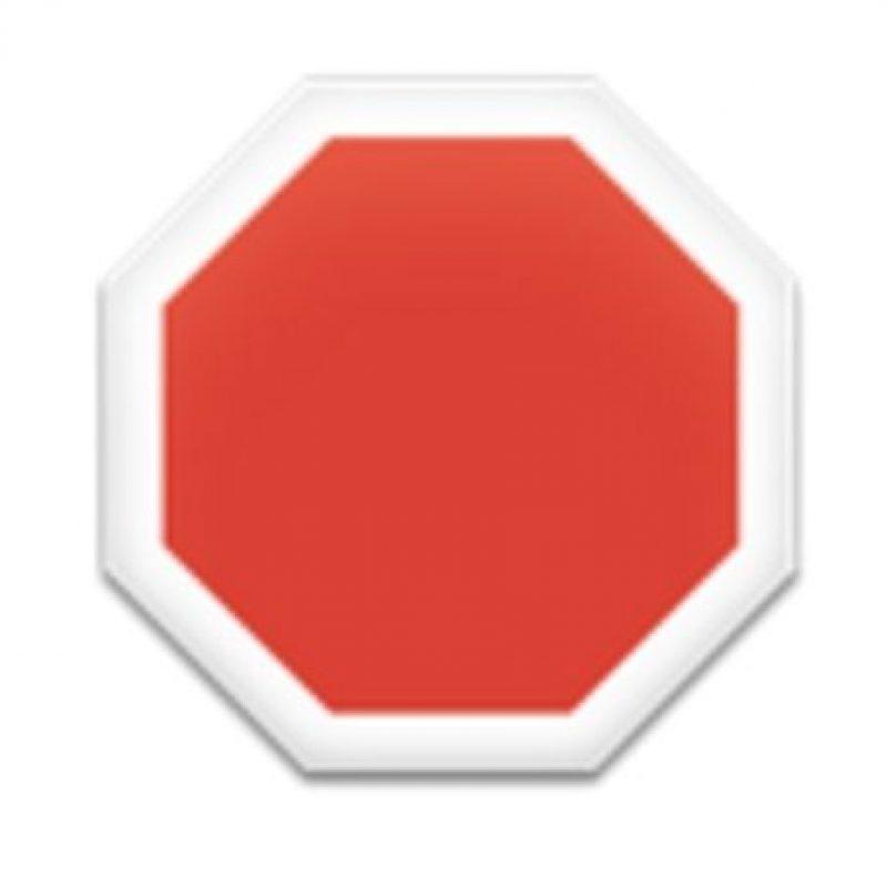 Señal en octágono. Foto:vía emojipedia.org
