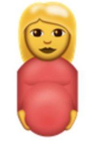 Mujer embarazada. Foto:vía emojipedia.org