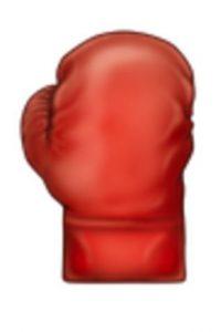 Guante de box. Foto:vía emojipedia.org