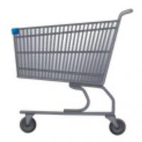 Carro de supermercado. Foto:vía emojipedia.org