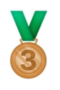 Medalla de bronce, tercer lugar. Foto:vía emojipedia.org