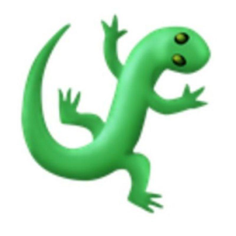 Lagartija. Foto:vía emojipedia.org