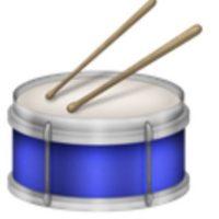 Caja de batería con baquetas. Foto:vía emojipedia.org