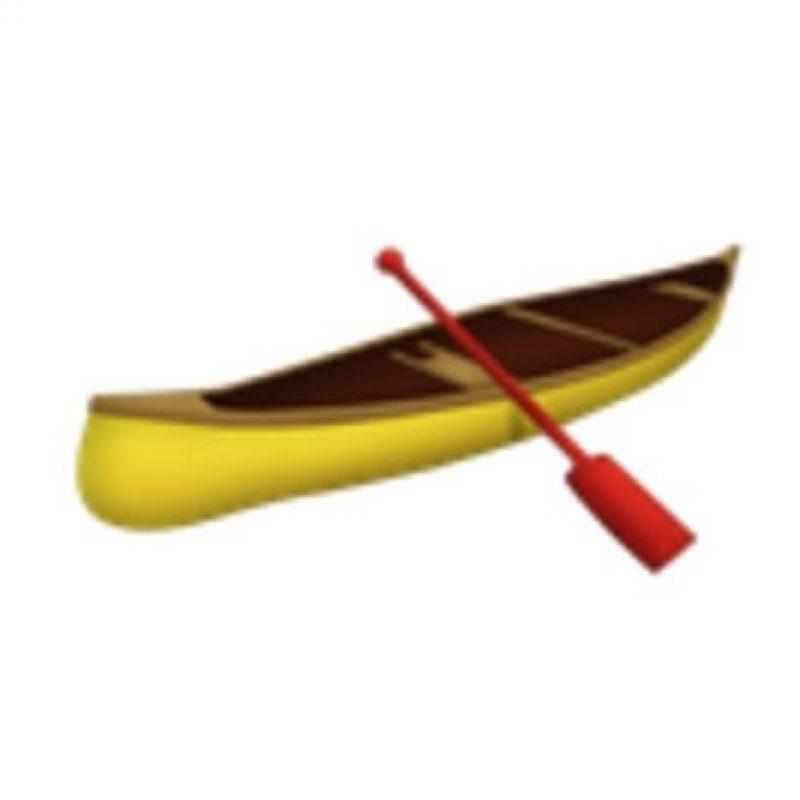 Canoa. Foto:vía emojipedia.org