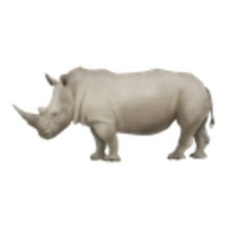 Rinoceronte. Foto:vía emojipedia.org