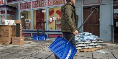 35 millones de personas están en riesgo por la caída de hasta 75 centímetros de nieve. Foto:EFE