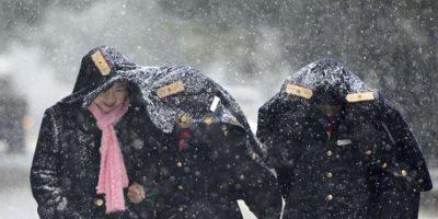 """Luego de varias horas de nieve, la tormenta """"Jonás"""" arrecia sobre la costa este de Estados Unidos. Foto:EFE"""
