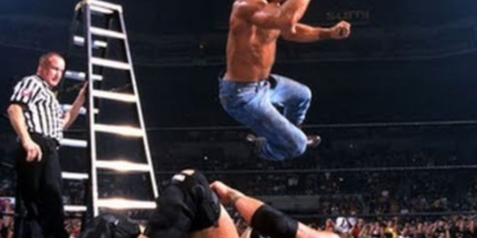 Dos emblemáticos luchadores de la Era Attitude en uno de los mejores eventos de la empresa. Foto:WWE