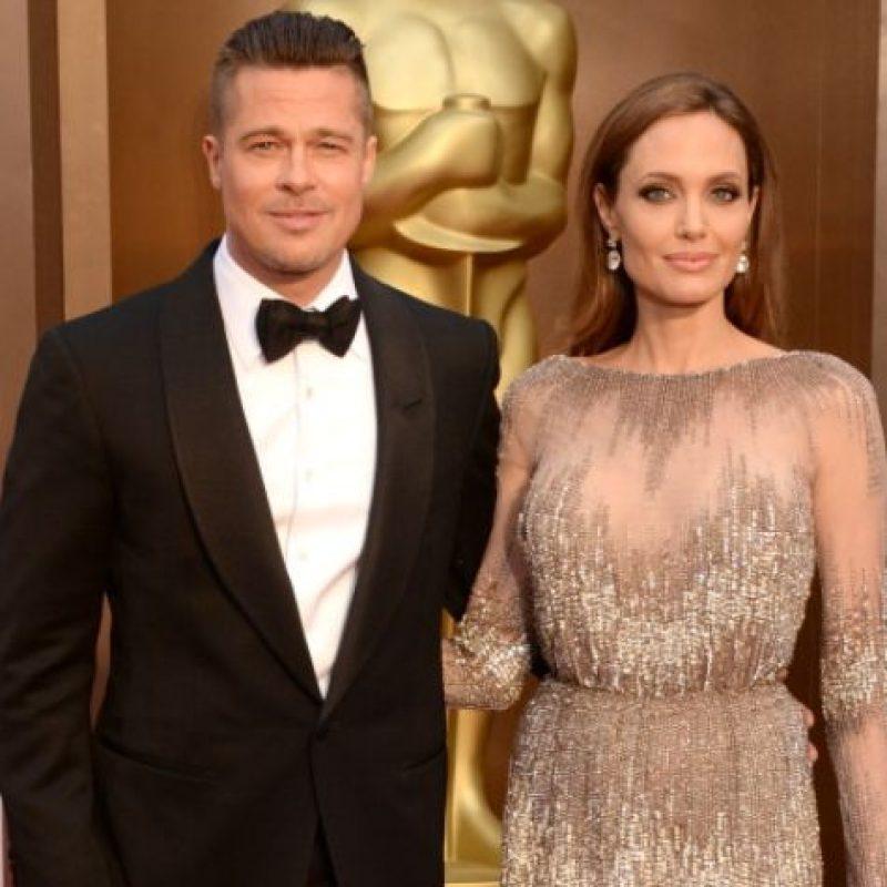 Brad siguió feliz con Angie. Foto:vía Getty Images