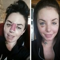 La actriz sufrió 18 roturas de hueso, incluyendo la nariz y una costilla, perdió varios dientes y sufrió una rotura en su hígado. Foto:vía Instagram/christymack