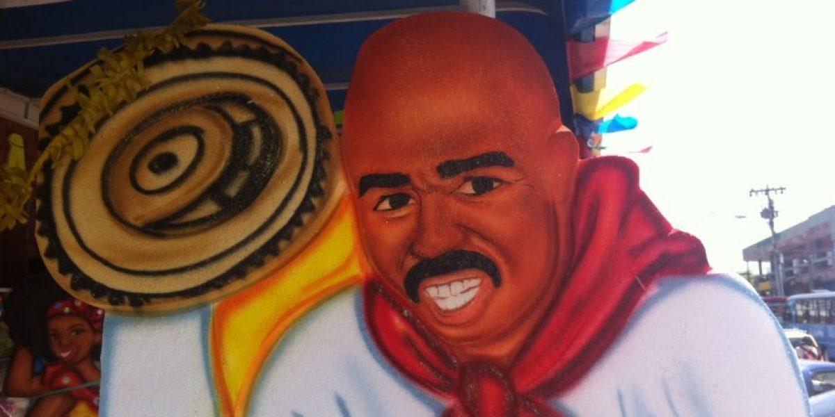 La figura de Steve Harvey causa sensación en el Carnaval de Barranquilla