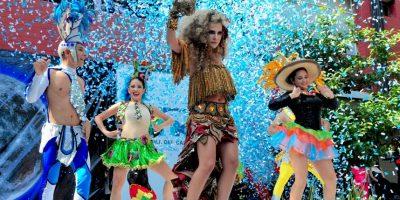 Presentación del disfraz elaborado por la Escuela de Diseño de la Universidad Autónoma del Caribe Foto:Carnaval S.A.