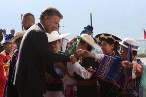 Arribo del presidente Juan Manuel Santos Foto:Agencia de Noticias Andes