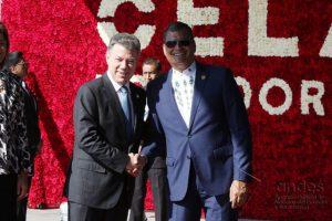 Juan Manuel Santos y Rafael Correa Foto:Agencia de Noticias Andes