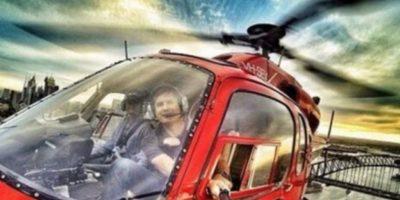 Dentro de un helicóptero en pleno vuelo. Foto:Vía Brewed.nl