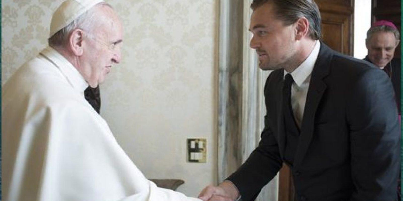 El actor conversó con el Sumo Pontífice en el Vaticano Foto:EFE