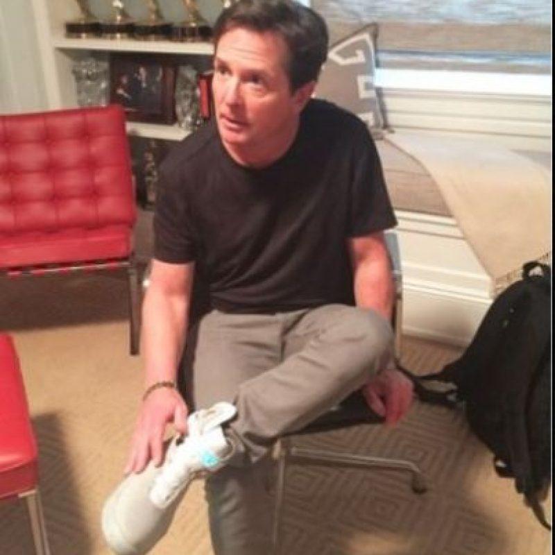 """5. Nike hizo realidad los zapatos deportivos de """"Marty"""". Foto:Twitter/RealMikeFox"""
