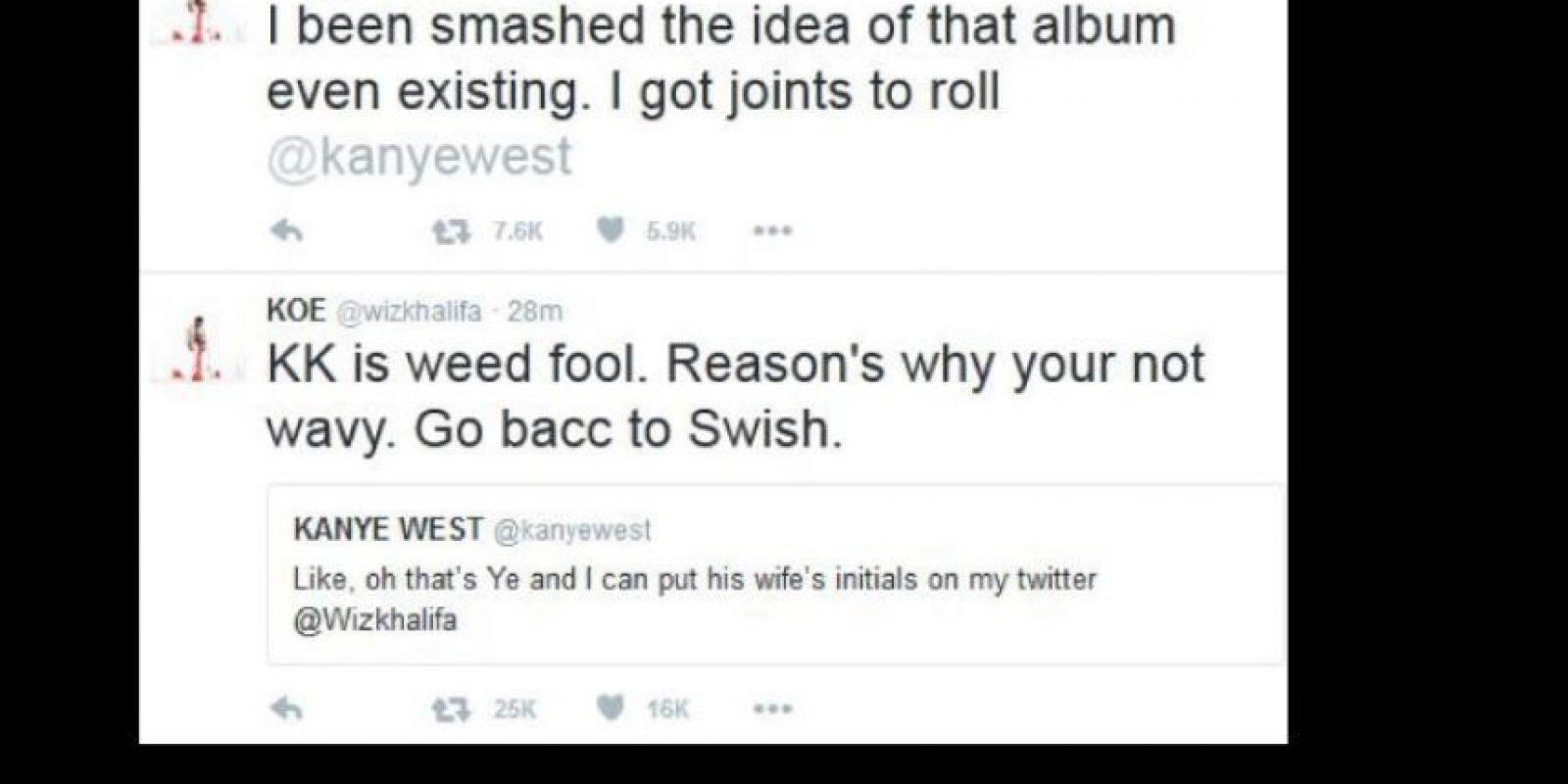 Whiz le explicó que era marihuana y no Kim (esto ante su enojo). Foto:vía Twitter