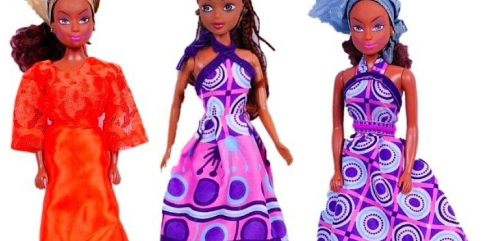 Queens of Africa fueron creadas por el nigeriano Taofick Ockoya, que no encontraba una Barbie negra para su hija. Foto:Queens of Africa