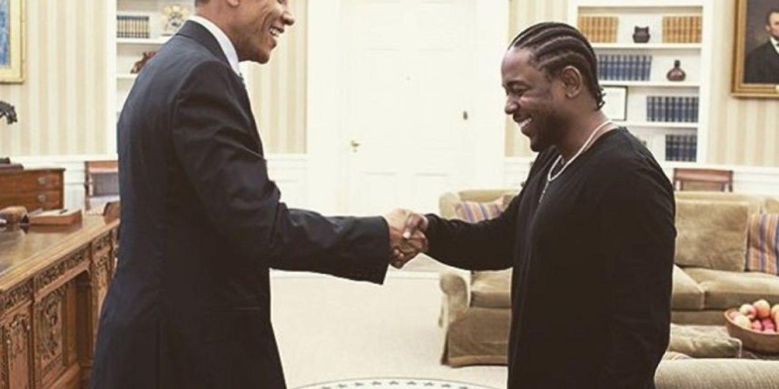 EL también rapero Kendrick Lamar, todos han visitado la Casa Blanca. Foto:Vía Instagram