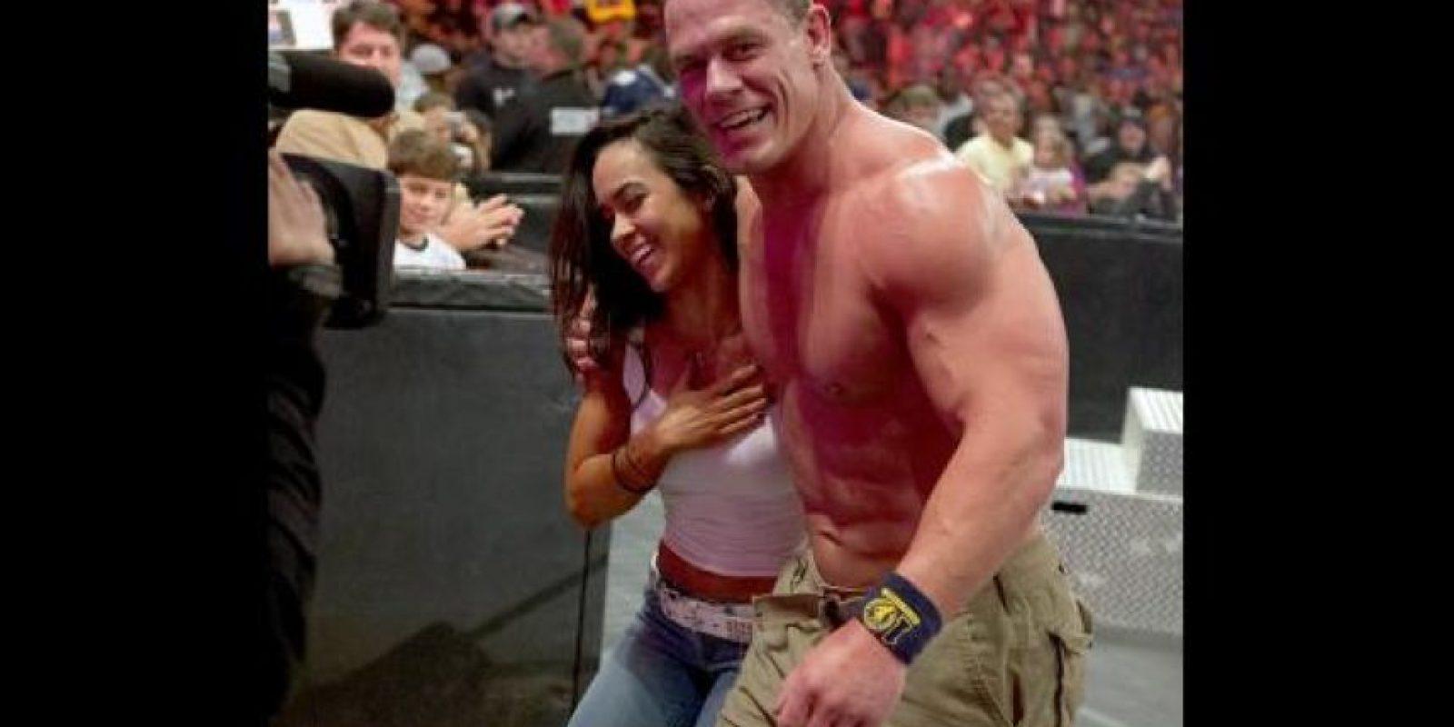 2. AJ Lee y John Cena Foto:WWE