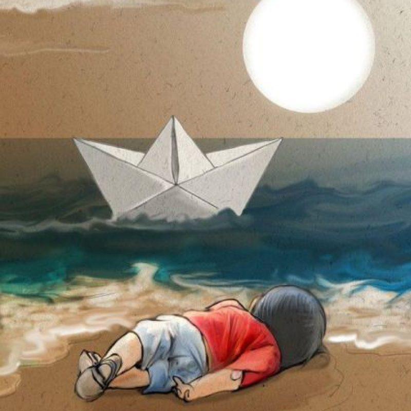 Su madre y hermano mayor también murieron ahogados. Foto:Vía Twitter