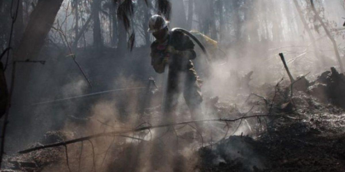 Doblan esfuerzos para controlar incendio en cerros orientales