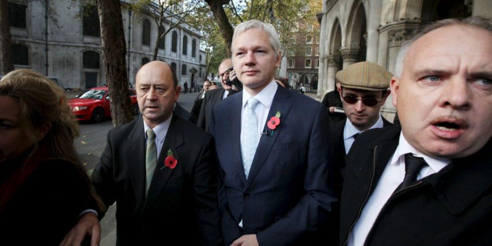 Desde 2012, el fundador de Wikileaks permanece en las instalaciones de la embajada de Ecuador en Londres. Foto:Getty Images