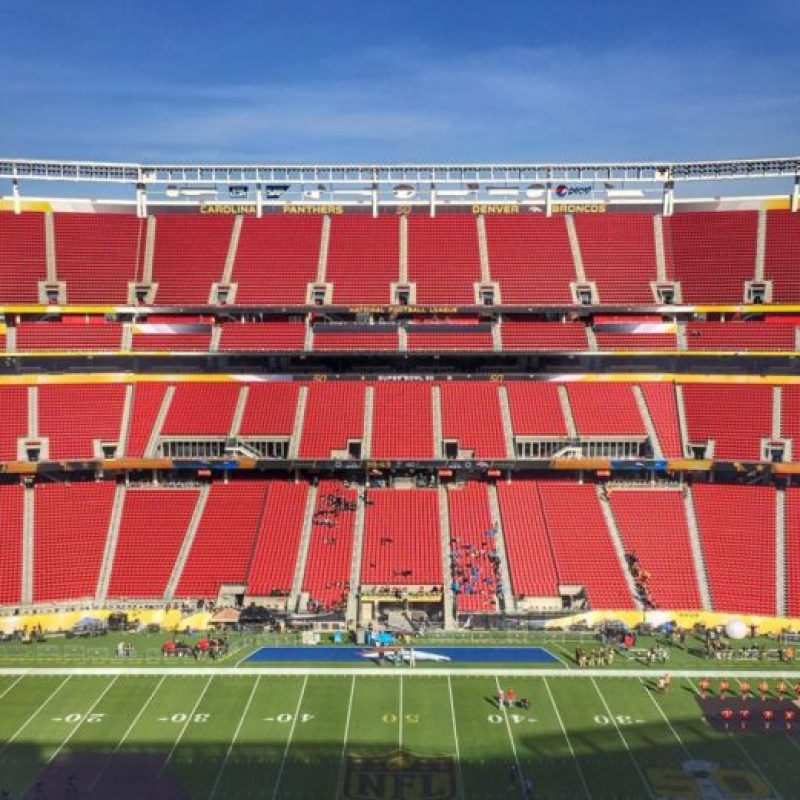 Con esta imagen del Levi's Stadium vacío, Coldplay anunció que estaban ensayando su show. Foto:Vía instagram.com/Coldplay