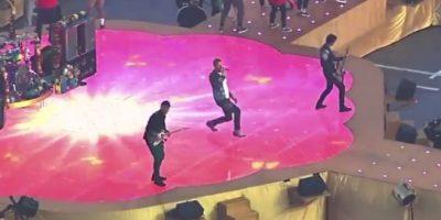 Y los cuatro integrantes de Coldplay también ya conocieron el escenario que pisarán este 7 de febrero. Foto:Vía twitter.com/clubcoldplayer