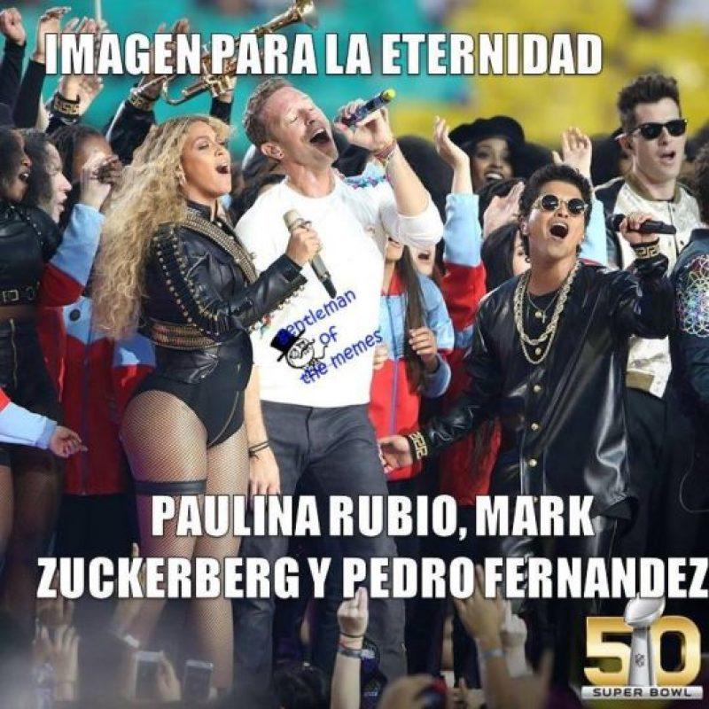 Estos son los mejores memes del show de medio tiempo del Super Bowl 50. Foto:Vía twitter.com