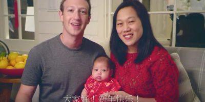 Mark, Priscilla y Max festejando el Año Nuevo Chino. Foto:Vía facebook.com/zuck