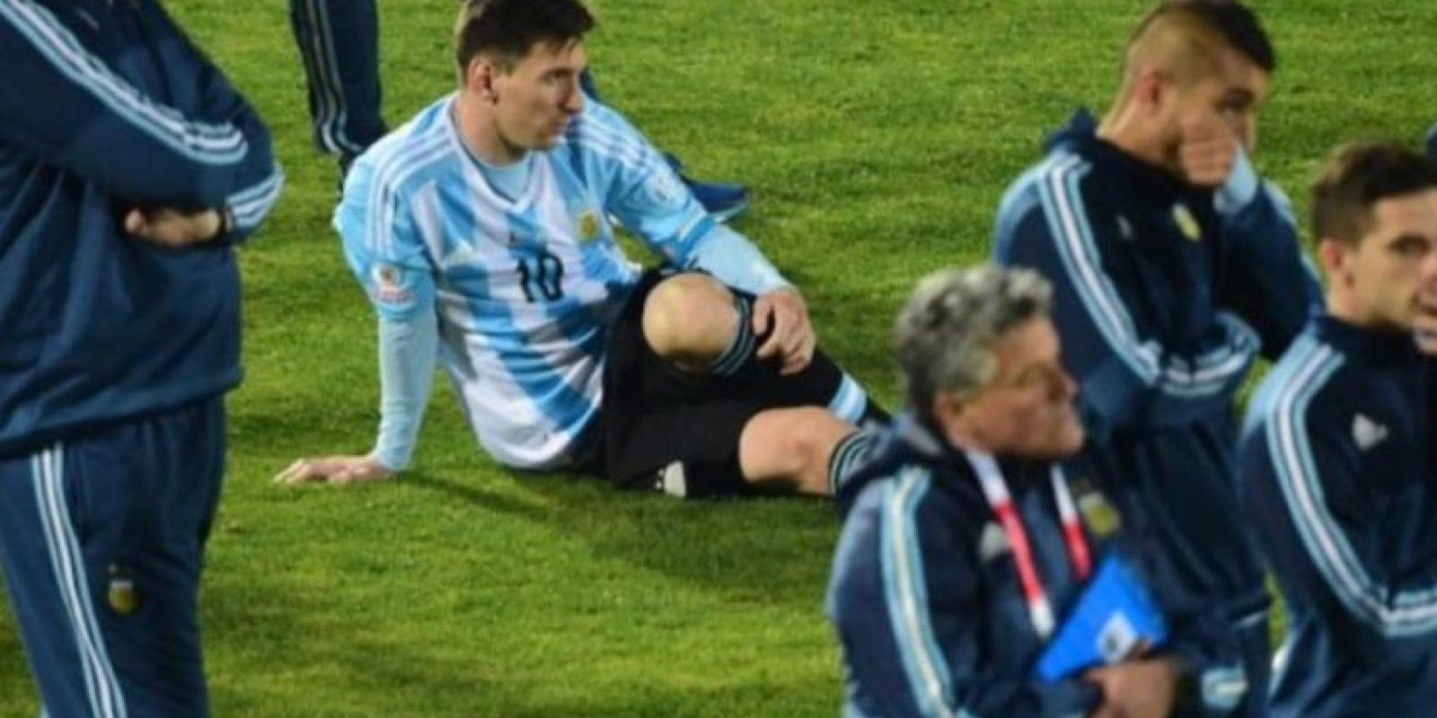 Madre de seleccionado chileno agredió a la familia de Lionel Messi Foto:Getty Images
