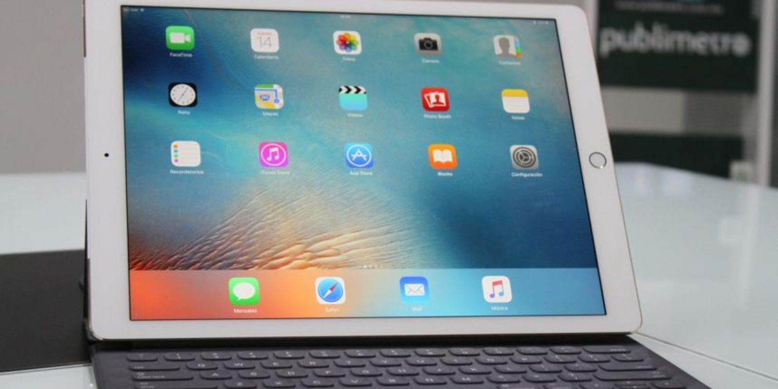 iPad Pro en el SmartKeyboard. Foto:Nicolás Corte
