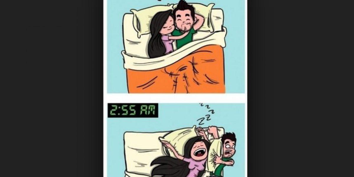 Hombre encuentra la forma de no pelear más con su mujer en la cama