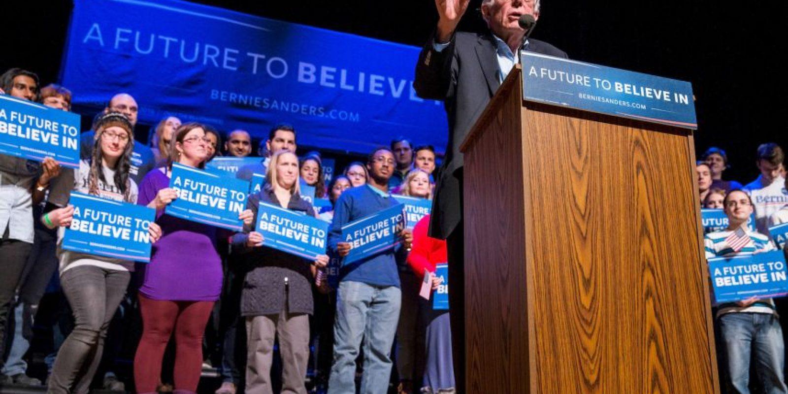 Y a Bernie Sanders de lado del Partido Demócrata. Foto:AFP