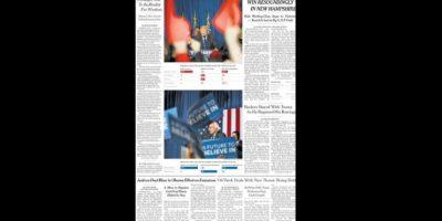 Y por otro lado, se hizo notoria la derrota de Hillary Clinton. Foto:The New York Times
