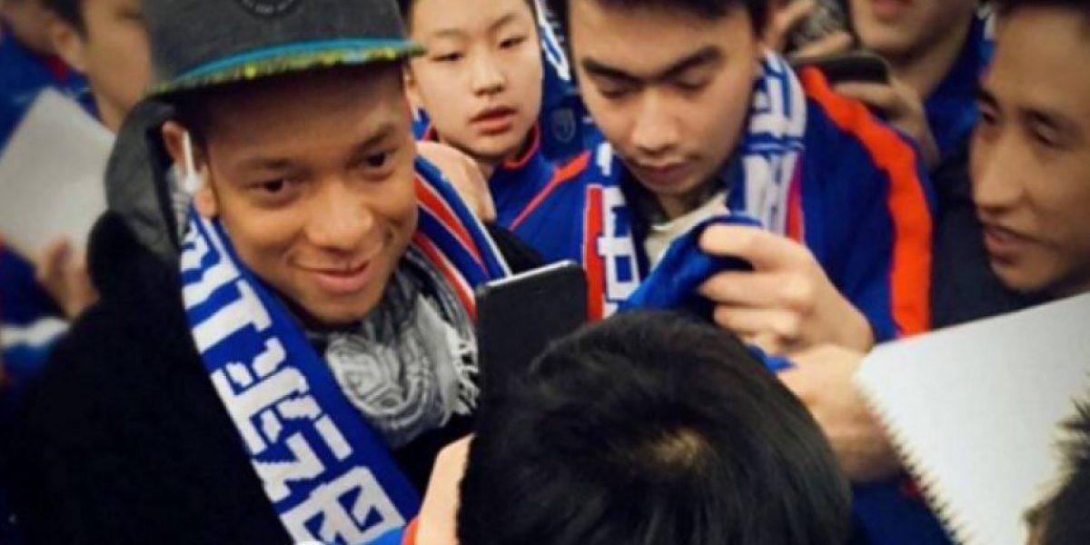 Fotos: Fredy Guarín es recibido como una estrella en China