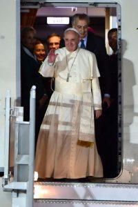 La bienvenida del Papa Francisco Foto:AFP