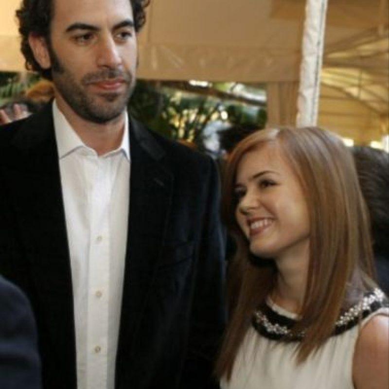 3- Borat (Sacha Baron Cohen) y Isla Fisher. Foto:Getty Images
